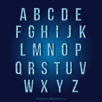 Gefrorene typografie