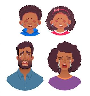 Gefühle des afrikanischen menschen