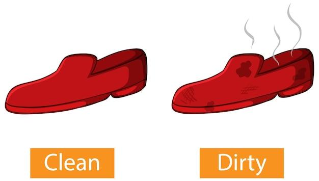 Gegenüber adjektive wörter mit sauber und schmutzig