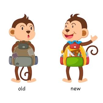 Gegenüber alter und neuer illustration