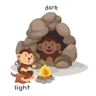 Gegenüber heller und dunkler illustration
