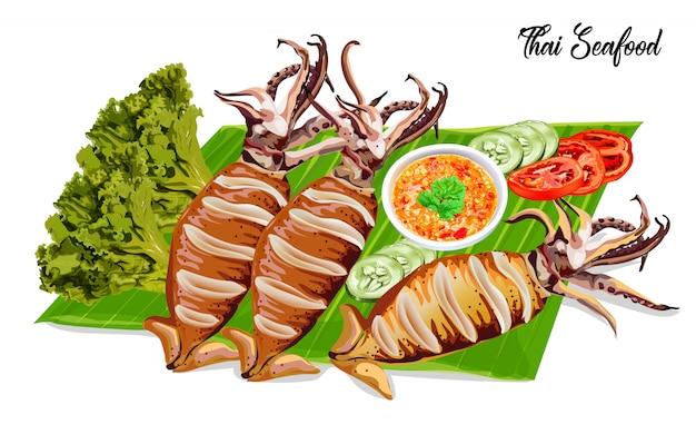 Gegrillte tintenfische