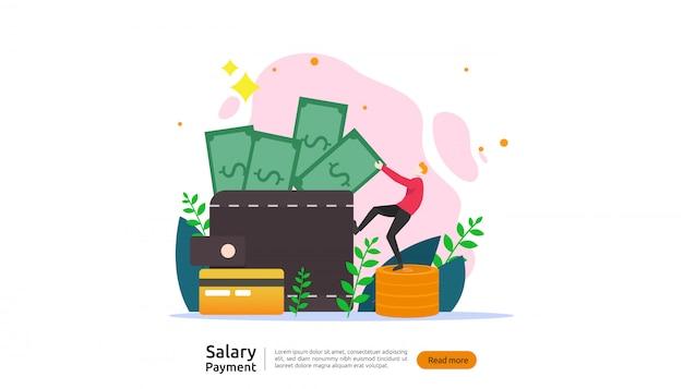 Gehaltszahlung konzept