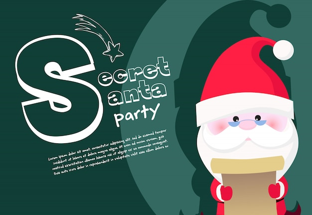 Geheime santa party banner design