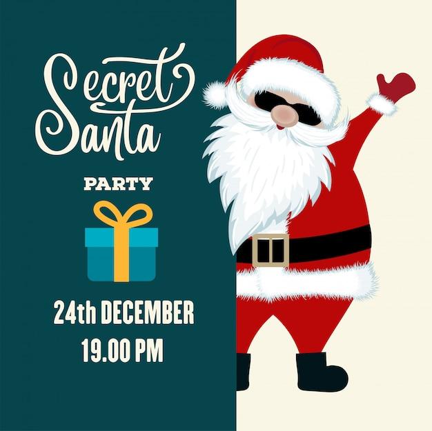 Geheime weihnachtspartyeinladung