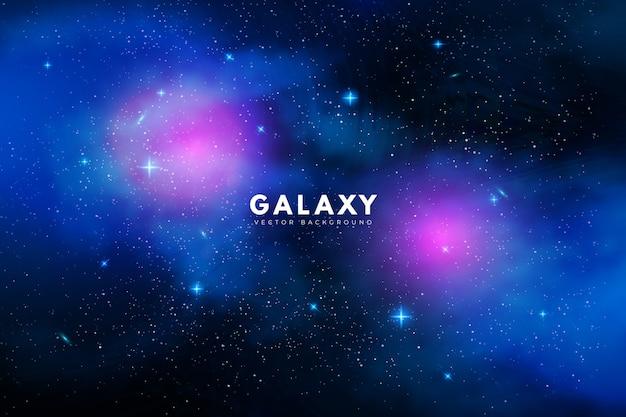 Geheimnisvoller galaxiehintergrund mit den purpurroten und blauen tönen