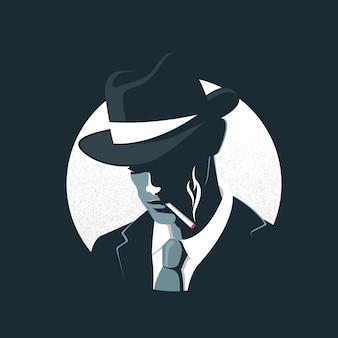 Geheimnisvoller gangstercharakter