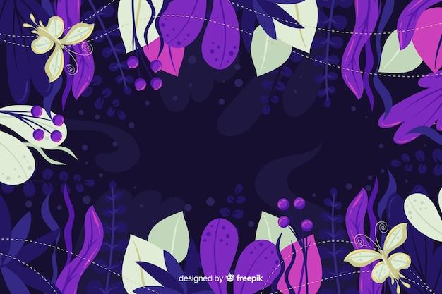 Geheimnisvoller hintergrund in schwarz und violett
