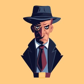 Geheimnisvoller mafia-charakter