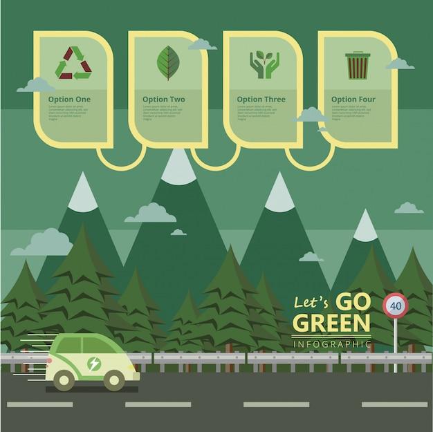 Gehen sie auf grüne förderung