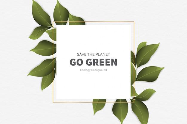 Gehen sie grüner moderner hintergrund mit blättern