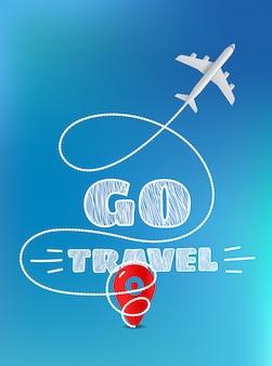 Gehen sie reisekonzept