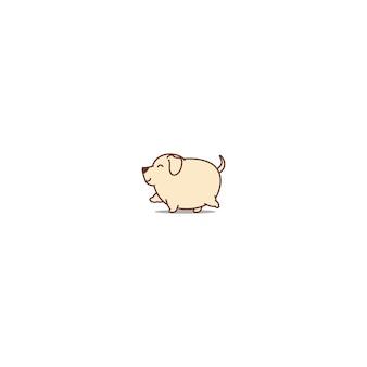 Gehende ikone des fetten labrador-apportierhundhundes