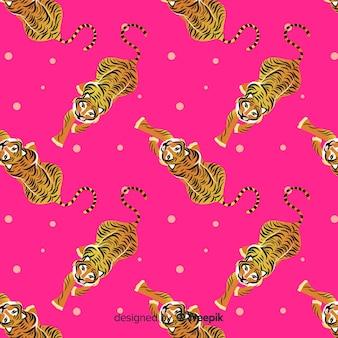 Gehendes tigermuster