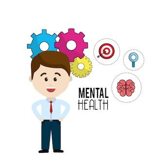 Gehirn der psychischen gesundheit