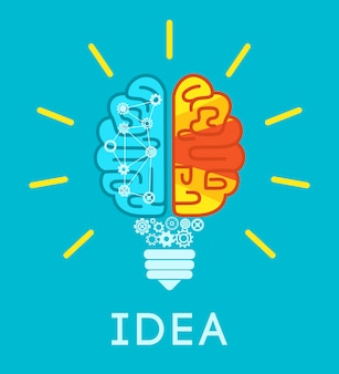 Gehirn idee konzept