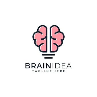 Gehirn idee logo