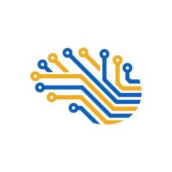 Gehirn logo vorlage