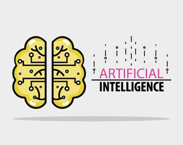 Gehirn mit schaltkreisen technologie wissenschaft