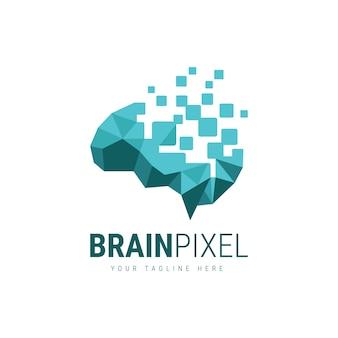 Gehirn pixel logo