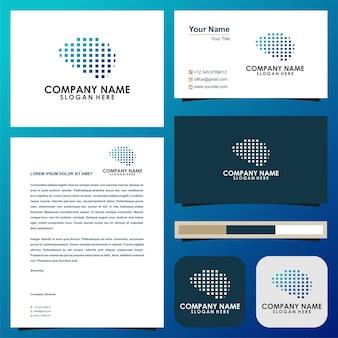 Gehirn premium-logo-vorlage visitenkarte premium