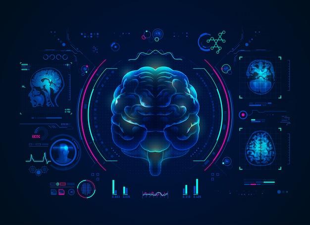 Gehirn-scan-schnittstelle