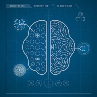 Gehirndiagramm