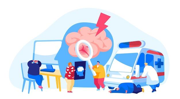 Gehirnschlag apoplexie beleidigung angriffskonzept