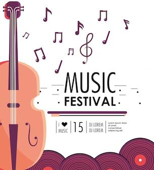 Geigeninstrument zum musikfestivalereignis