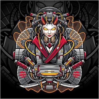 Geisha esport maskottchen logo
