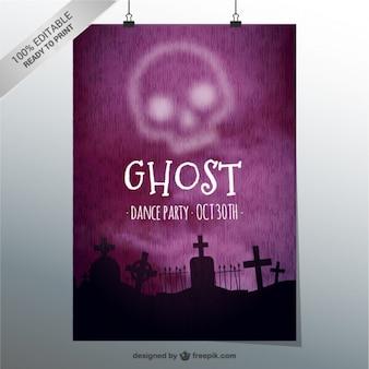 Geist-party plakat vorlage