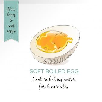 Gekochtes ei als lebensmittel isoliert auf weißem hintergrund