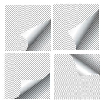 Gekräuselte papierbögen.