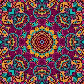 Gekritzel abstrakte dekorative farbillustration mit stilisierter abdeckung. abstraktes nahtloses muster
