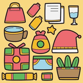 Gekritzel cartoon weihnachten design illustration