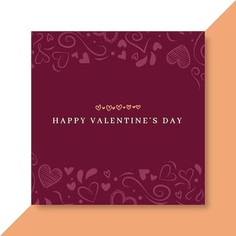Gekritzel elegante valentinstag facebook post vorlage