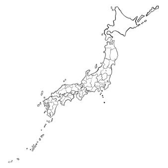 Gekritzel japan karte