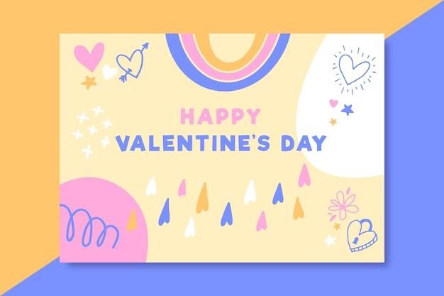 Gekritzel kindliche valentinstagskarte