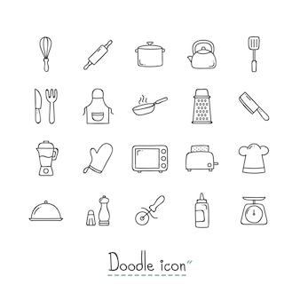 Gekritzel-küchen-icons.