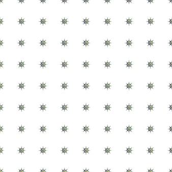 Gekritzel nahtloses muster mit kleinem blauem schiffsraddruck. weißer hintergrund. isolierte meereskulisse.