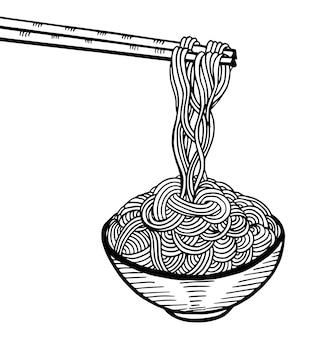 Gekritzel-nudelhandzeichnung