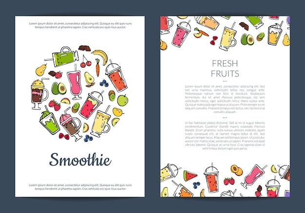 Gekritzel smoothie flyer vorlage