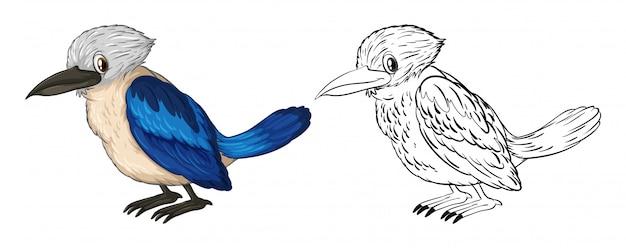 Gekritzel tier für kleinen vogel