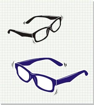 Gekritzelart sonnenbrille-vektorillustration