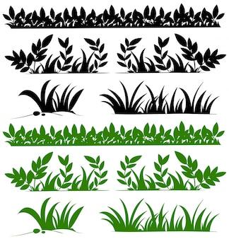 Gekritzelentwurf für gräser