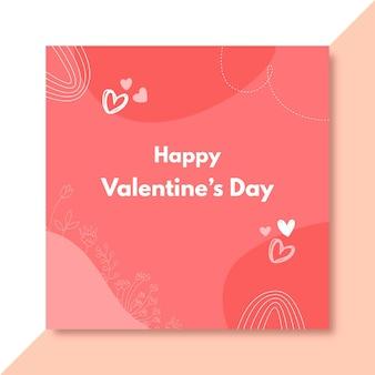 Gekritzelter valentinstag facebook-beitrag