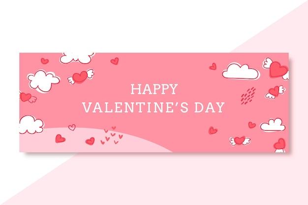 Gekritzelter valentinstag facebook-cover