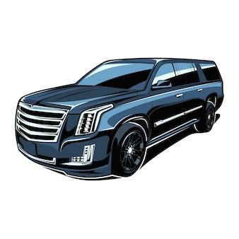 Geländewagen crossover schwarzes fahrzeug
