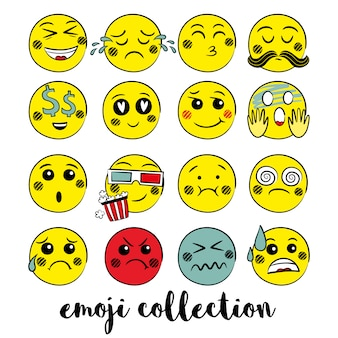 Gelb emoji sammlung
