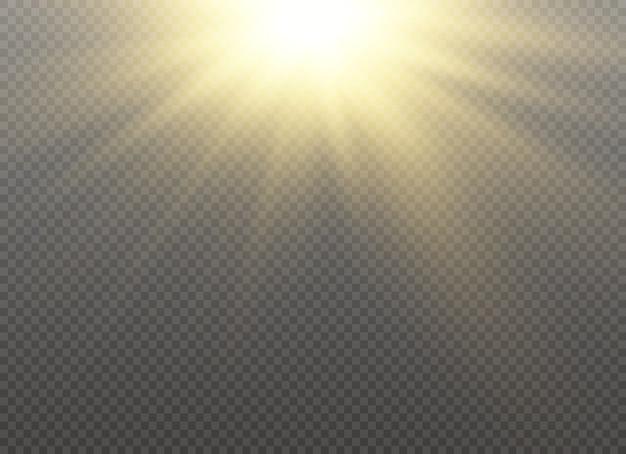 Gelb leuchtendes licht platzte explosion